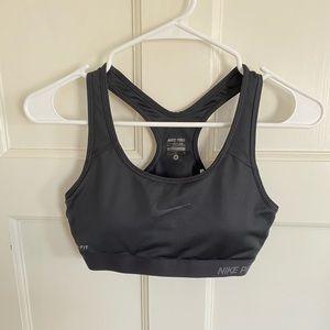 Nike Pro black swoosh sports bra size medium